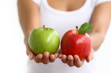 porównanie jabłka