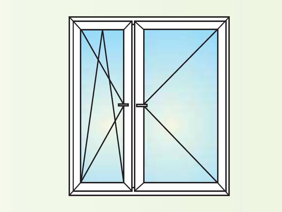 okno dwuskrzydłowe UR